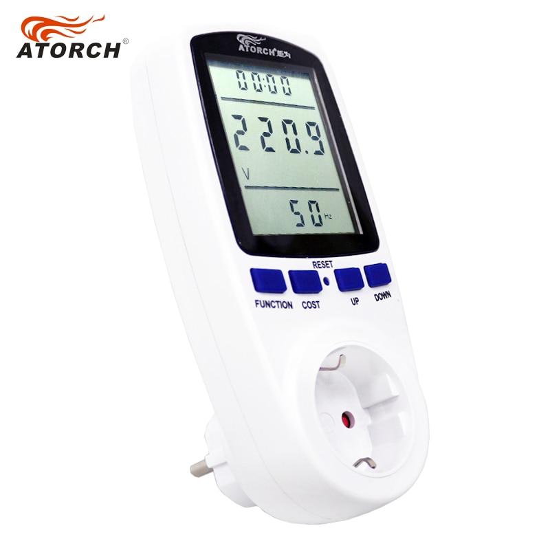 ATORCH 220v växelströmsmätare digital wattmeter energi eu watt - Mätinstrument - Foto 3