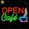 Неоновая неоновая вывеска для кафе  стеклянная трубка  неоновые лампочки  вывеска для бизнес-декора  неоновая доска для кофейной комнаты  не...