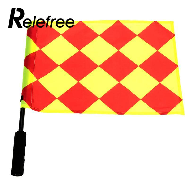 Relefree 1Pcs Soccer Referee Flag Play Sports Match Football Linesman Competition Equipment Football Accessories