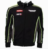 Motorcycle Hoodie For Kawasaki Racing Team Motorbike Riding Men's Zipper Sweatshirt