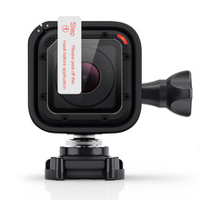 Gopro 영웅 4 세션 5 세션 스포츠 액션 카메라 액세서리에 대한 강화 유리 lcd 화면 보호기 필름 커버 # f31