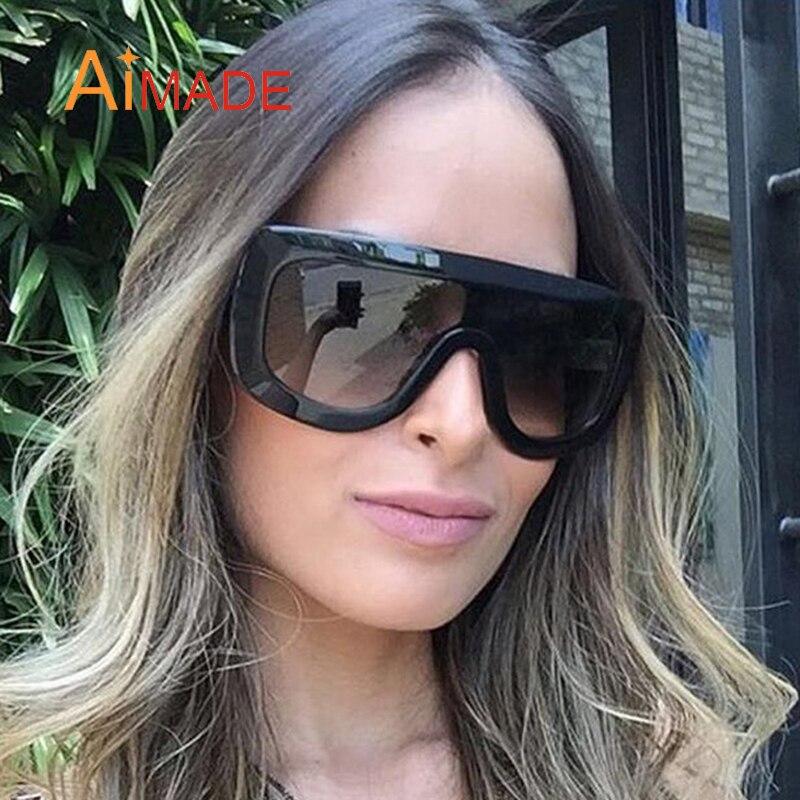 Kim Kardashian Big Sunglasses  aimade kim kardashian fashion designer oversized goggle sunglasses