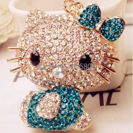 Bling Bling Do Gato Bonito Chaveiro Gancho Do Saco Chave Keychain Hanger Chave cadeia