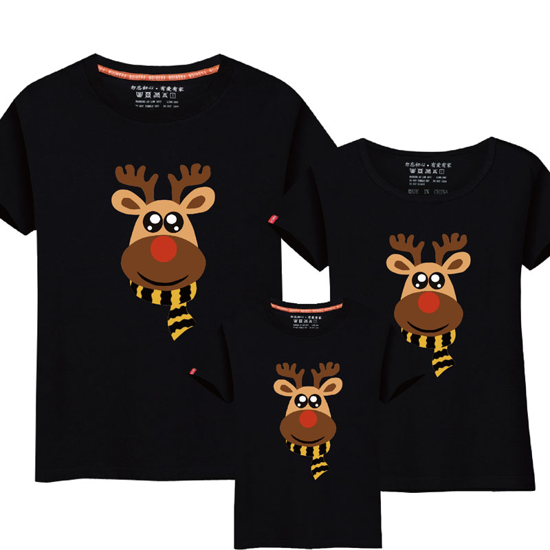 1Pc 2017 New Family Matching Outfits Summer T-shirt Clothing Family Look Cotton T-shirts C