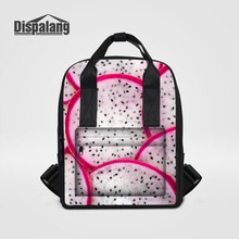 Dispalang дракон фрукты печати рюкзак женщины школьные сумки для подростков женские дорожные сумки для девочек ноутбук рюкзак Mochila