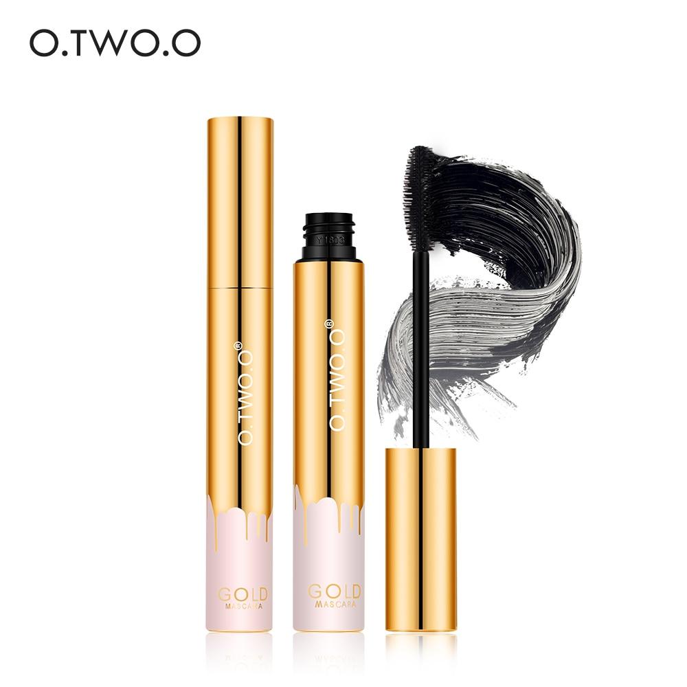 O.TWO.O Mascara Lengthening Black Lash Eyelash Extension Eye Lashes Brush Makeup Long-wearing Gold color Mascara artdeco lash brush