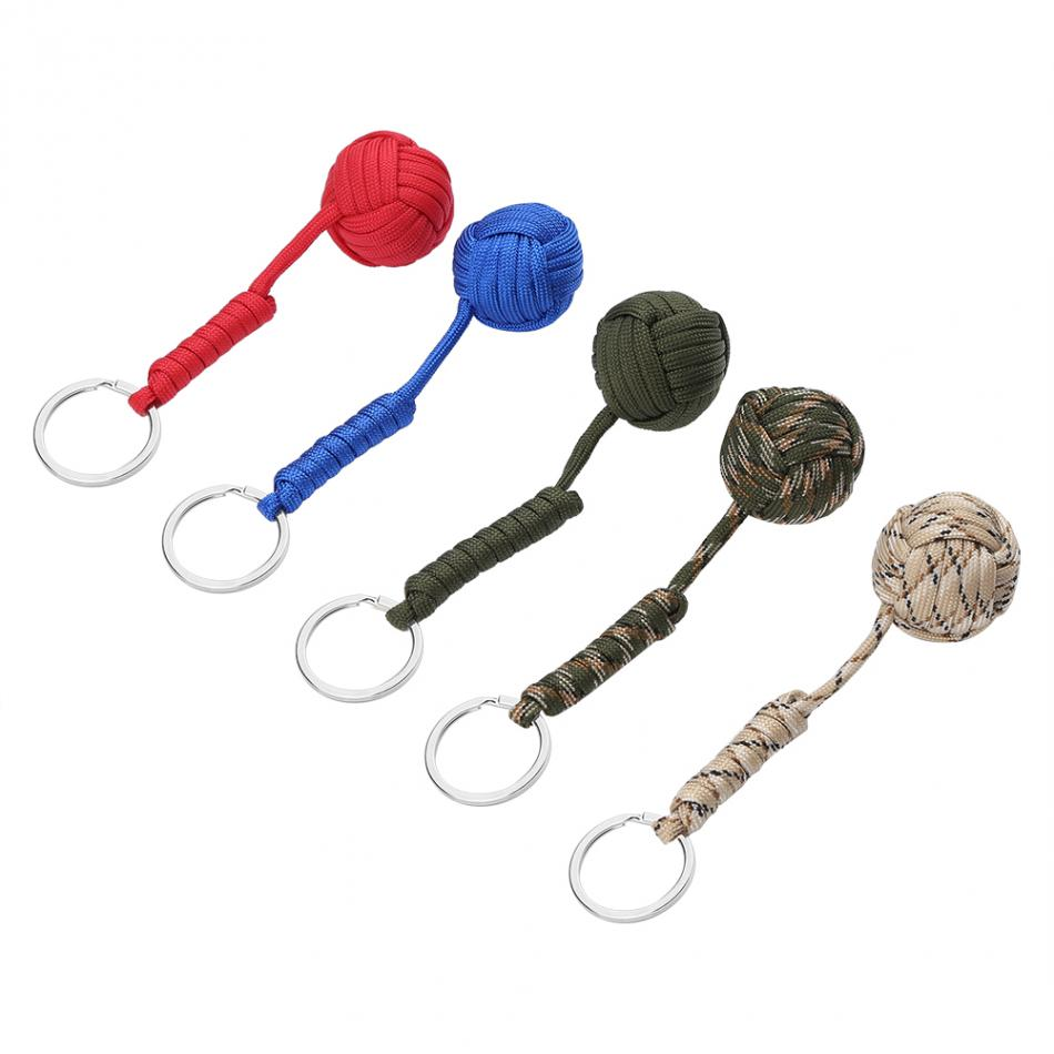 550 paracord keychain survival lanyard outdoor climbing for Survival rope keychain