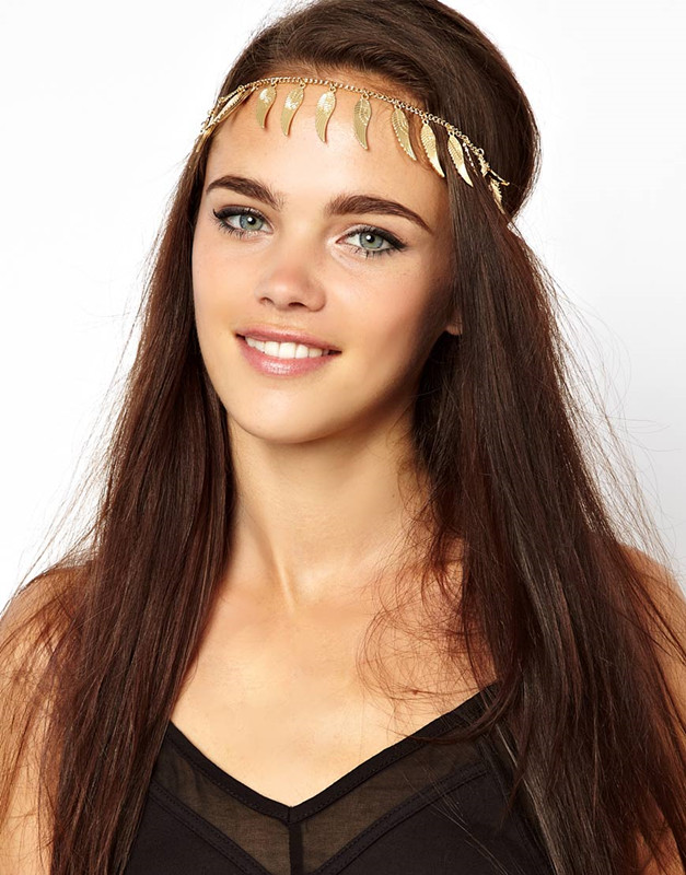 Indian Fashion Summer Style Headband Metal Wing Tassels Hairband Hair Accessory Decoration for Women Jewelry