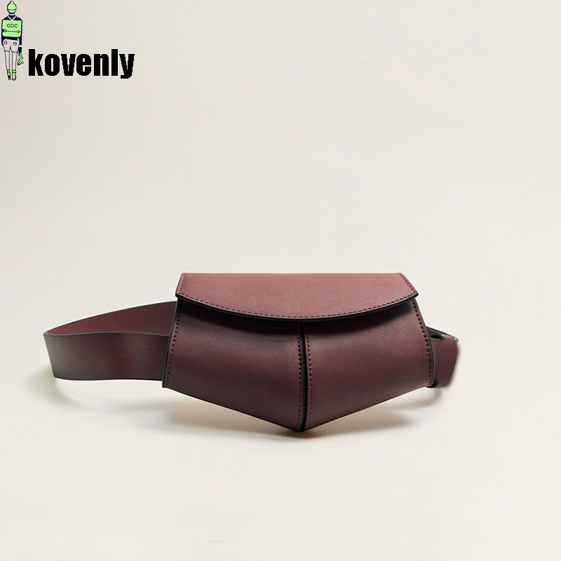 Women Fanny Pack Ladies Serpentine Waist Bag Women Bag Mini Disco Waist Pack Leather Small Travel Bags 040301