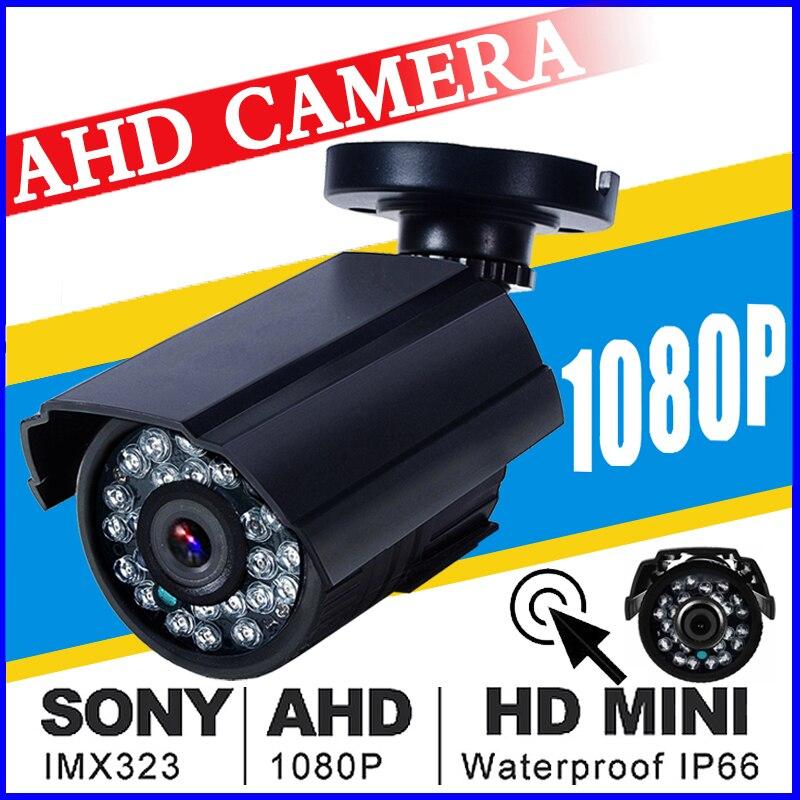 Coppa del mondo di Vendita HD AHD Mini Macchina Fotografica del CCTV SONY IMX323 720 P/960 P/1080 P 3000TVL Analogico PIENO 2MP IP66 Outdoor Pallottola Infrarossi Vidicon