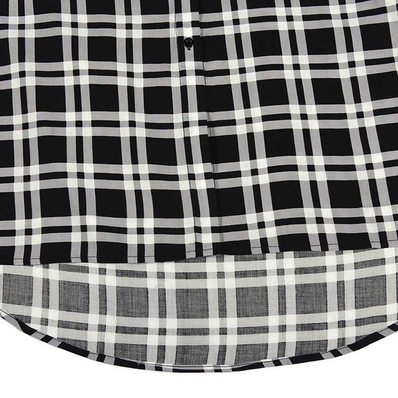 GLO STORY Women Checked Loose Cotton Shirt Dress Womens Casual Long Sleeve With Belt Plaid Dresses WCS 6193 in Dresses from Women 39 s Clothing