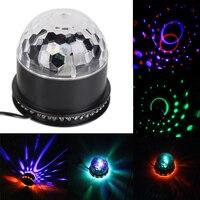 החדש LED לייזר מקרן 6 צבעים קול אוטומטי נע מועדון מוסיקת מסיבת דיסקו כדור קסם קריסטל שלב אפקט אור ספוט ארה