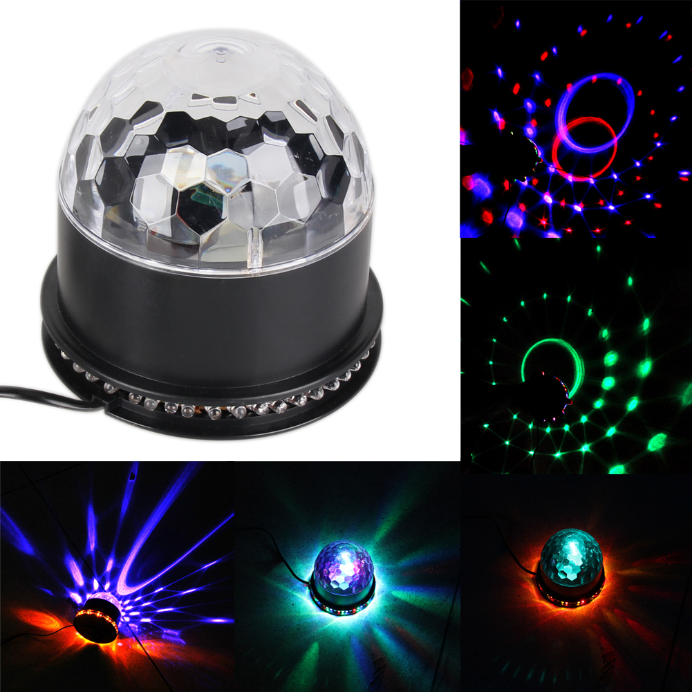 New LED Laser Projector 6 Colors Sound Auto Moving Club Disco Party Music Crystal Magic Ball Stage Effect Spot Light US/EU/UK mini rgb led party disco club dj light crystal magic ball effect stage lighting