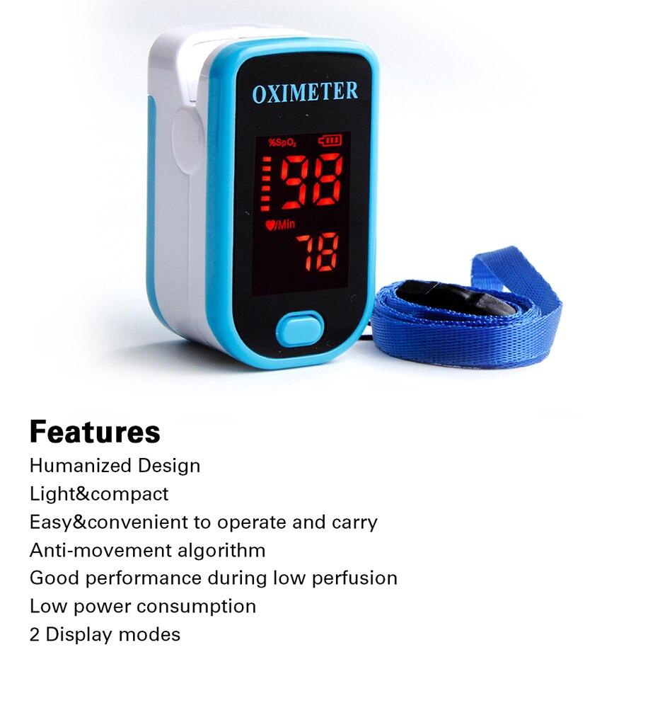 Dedo Oxímetro de Pulso Monitor de Pressão