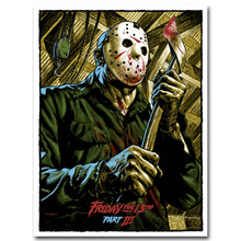 Friday The 13th Art Silk Poster Print 13×18 24×32 inch Jason Voorhees Classic Horror Movie Picture for Room Wall Decor 008