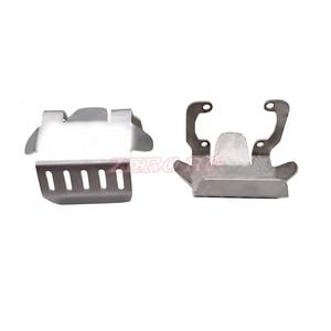 Image 5 - Edelstahl Front Lower + Achse + Getriebe Montieren Schutz Gleitplatte Set Für 1/10 RC Raupen AXIAL SCX10 II 9004