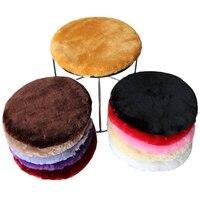 Di alta Qualità della Pelliccia Del Faux Rotondo Sedia Cuscino del Sedile Inverno Peluche Sgabello/sedia Rotondo Cuscino del Sedile Pad Cojines Almofadas Decorativa