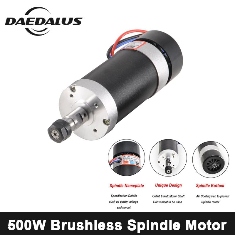 500W CNC Spindle Motor ER11/ER16 Air Cooled Spindle Motor Brushless 55mm 48V Spindle Router Tools For Engraver Milling Machine цена и фото
