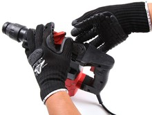 Free shipping Palm reinforced Anti-rattle /Anti shock working protecting safety gloves applicated in stronger mechanical operate цена