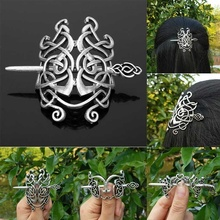 Viking Hair Jewelry Large Celtics Knots Crown Hairpins Vinta