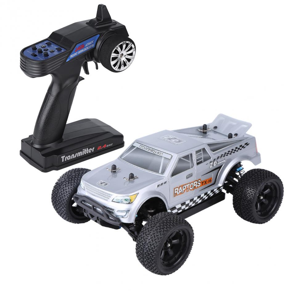 2.4GHz Remote Control Four-Wheel Drive Car 1/16 RC Truck Model Vehicle Toy Anti-collision RC Buggy Electronic Toy For Kids 1 12 high speed car ratio control 2 4 ghz all wheel drive model 4x4 driving car assebled buggy vehicle toy