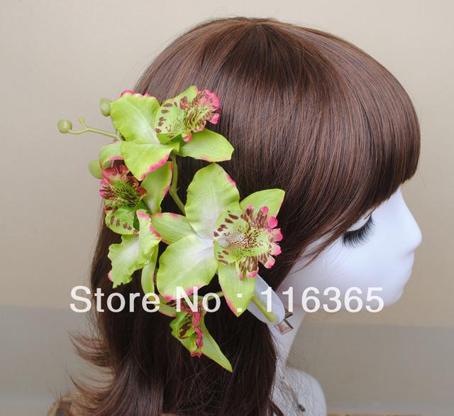 Awesome Aliexpress Com Buy 6Pcs Four Pcs Artificial Thai Orchid Flower Short Hairstyles Gunalazisus