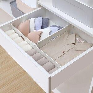 Retractable Adjustable Stretch Drawer Divider Organizer Storage Plastic Cabinet Drawer Separator Divider Grid for Household