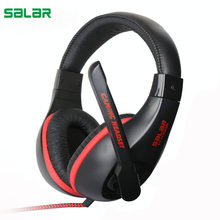 Salar KX102 Gaming Headsets Wired Headphones with Mic Stereo Earphones Deep Bass for PC Computer Gamer PS4 New X-BOX(China)