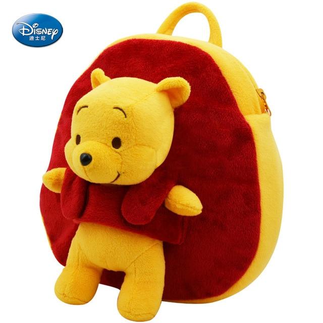 Disney saco mochila criança bebê mochila Mickey Mouse Minnie Mouse Crianças Pooh lanche pacote mochila de pelúcia para o presente de aniversário do bebê
