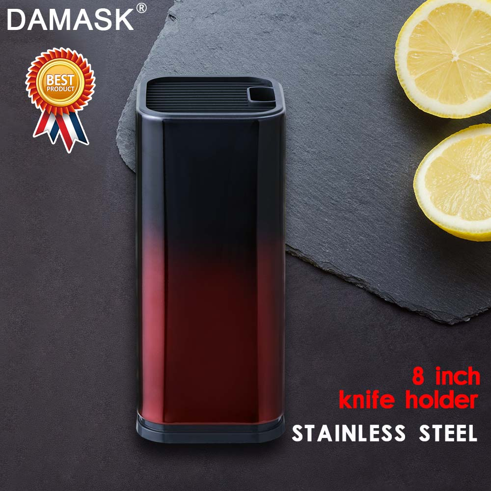 Damask Knife Stand Holder For Kitchen Knife Stainless Steel Cooking Holder Stand Block High End Kitchen Multifunctional Tools