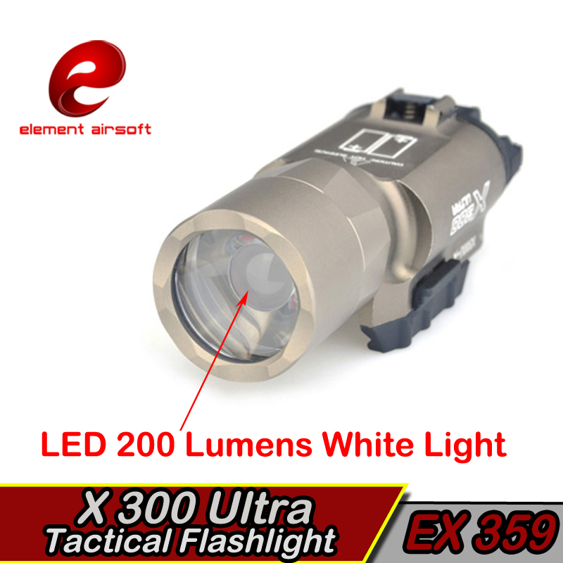 Elemento táctico Surefir X300 LED Arma Luz Waffe lanterna Airsoft - Caza - foto 5