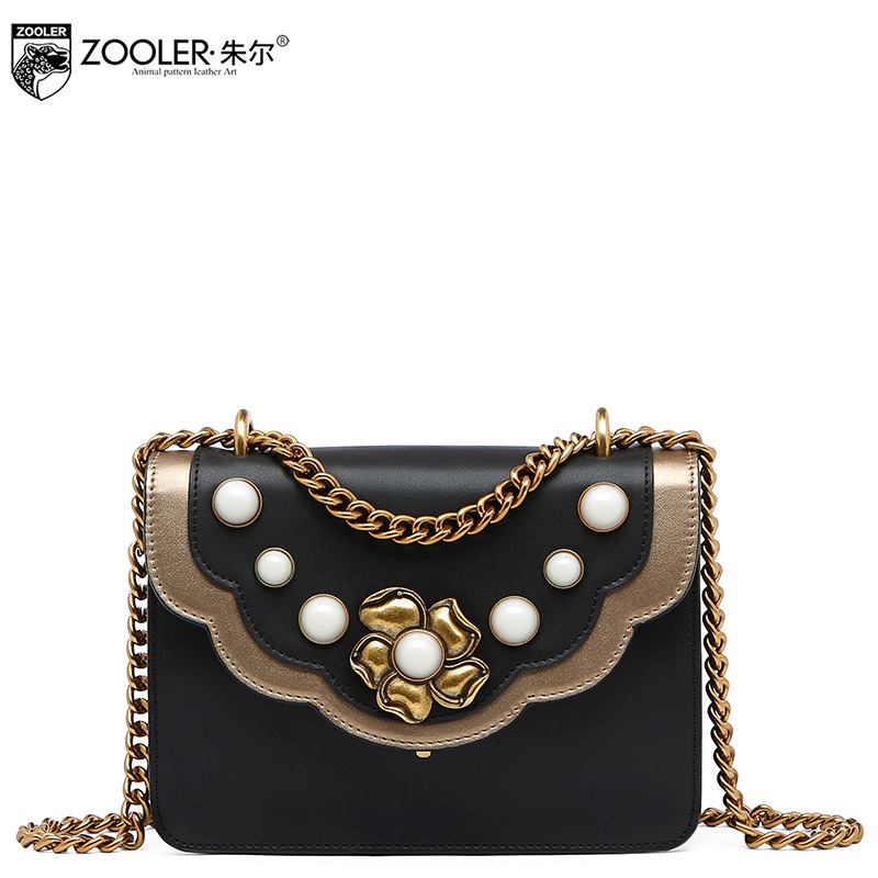 ZOOLER Guarantee 100% Genuine Leather Shoulder Bag Women Casual Chains Messenger Bags 2017 Winter Bolsa Feminina De Marca Famosa black color 2gang touch light switch with wireless remote control rf 433mhz glass panel smart wall touch switch uk type
