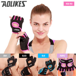 Masculino e feminino ginásio meio dedo luvas esportes fitness exercício treinamento pulso silicone anti-deslizamento resistência weightlifting luvas
