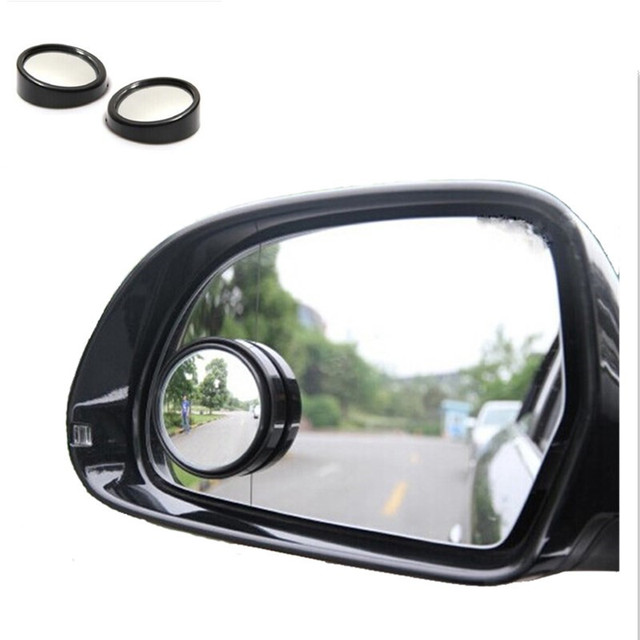 2pcs universal Driver 2 Side Wide Angle Round Convex Car Vehicle Mirror Blind Spot Auto RearView for all cars Convex Mirror