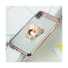 Фотография SULADA for Apple iPhone X (Ten) Bear Finger Grip Kickstand Plating PC Mobile Case For Apple iPhone X - 5.8 inch