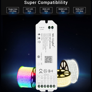 Image 2 - 5 IN 1 WiFi LED Smart Controllerสำหรับเดี่ยวสีRGB + CCT RGB RGBW LED Strip Amazon Alexa Voiceโทรศัพท์Appรีโมทคอนโทรล12 24V
