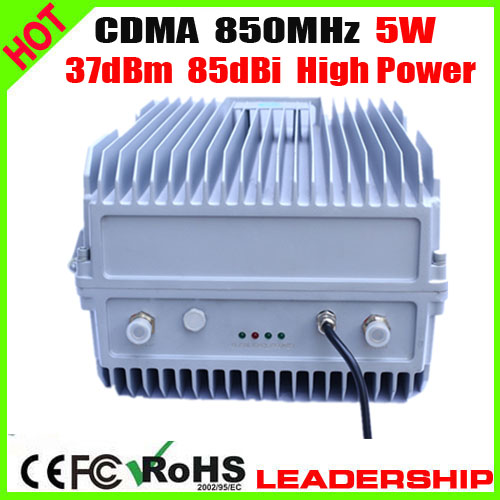 5W High Power CDMA 850mhz 5Watts 33dBm 85dBi Cellular Mobile/cell Phone Signal Repeater Booster Amplifier Ship Tunnel Farm Use