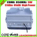 Novo 5 W de alta potência 5 Watts CDMA 850 mhz repetidor CDMA Mobile phone signal booster celular repetidor 33dBm 85dBi amplificador