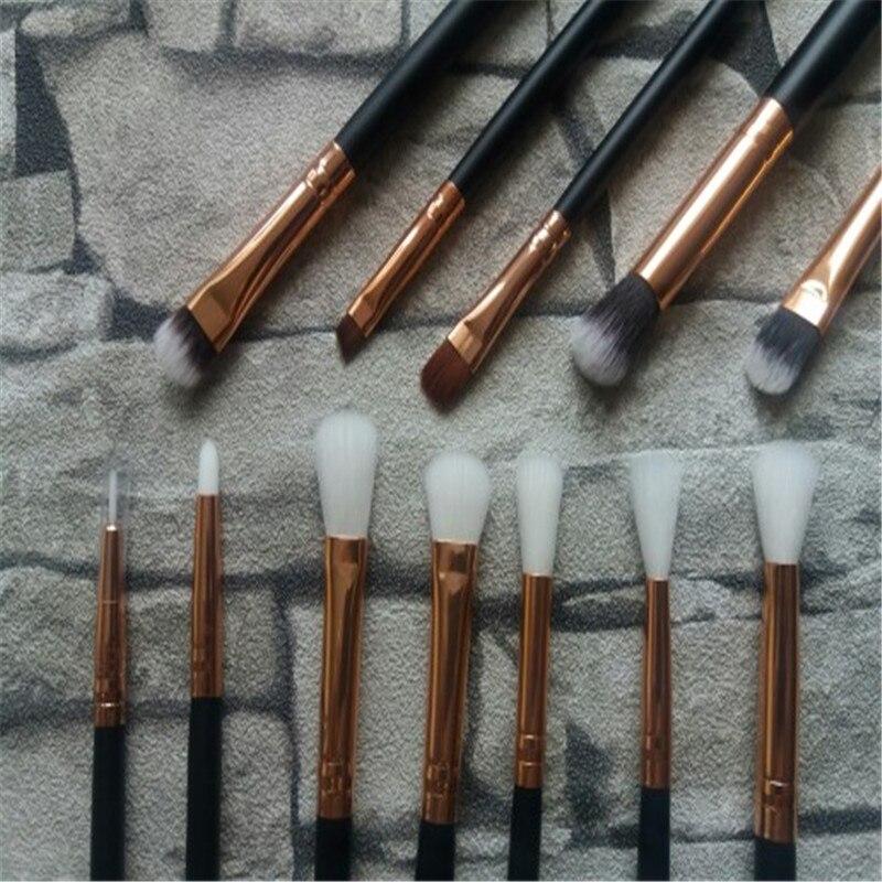 12Pcs Rose gold makeup brushes professional Eye Shadow Foundation Eyebrow oval Brush Cosmetic make up brush set toothbrush Tool