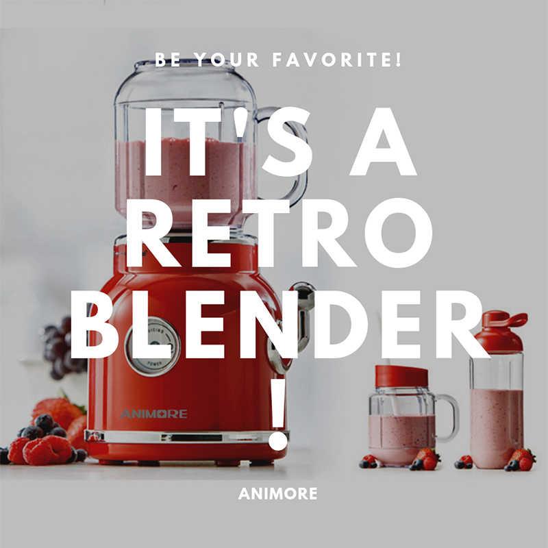 ANIMORE Retro Liquidificador Espremedor Elétrico Suco de Frutas Misturador Milkshake de Comida para Bebé Moedor de Carne Multifuncional Máquina do Fabricante De Liquidificador