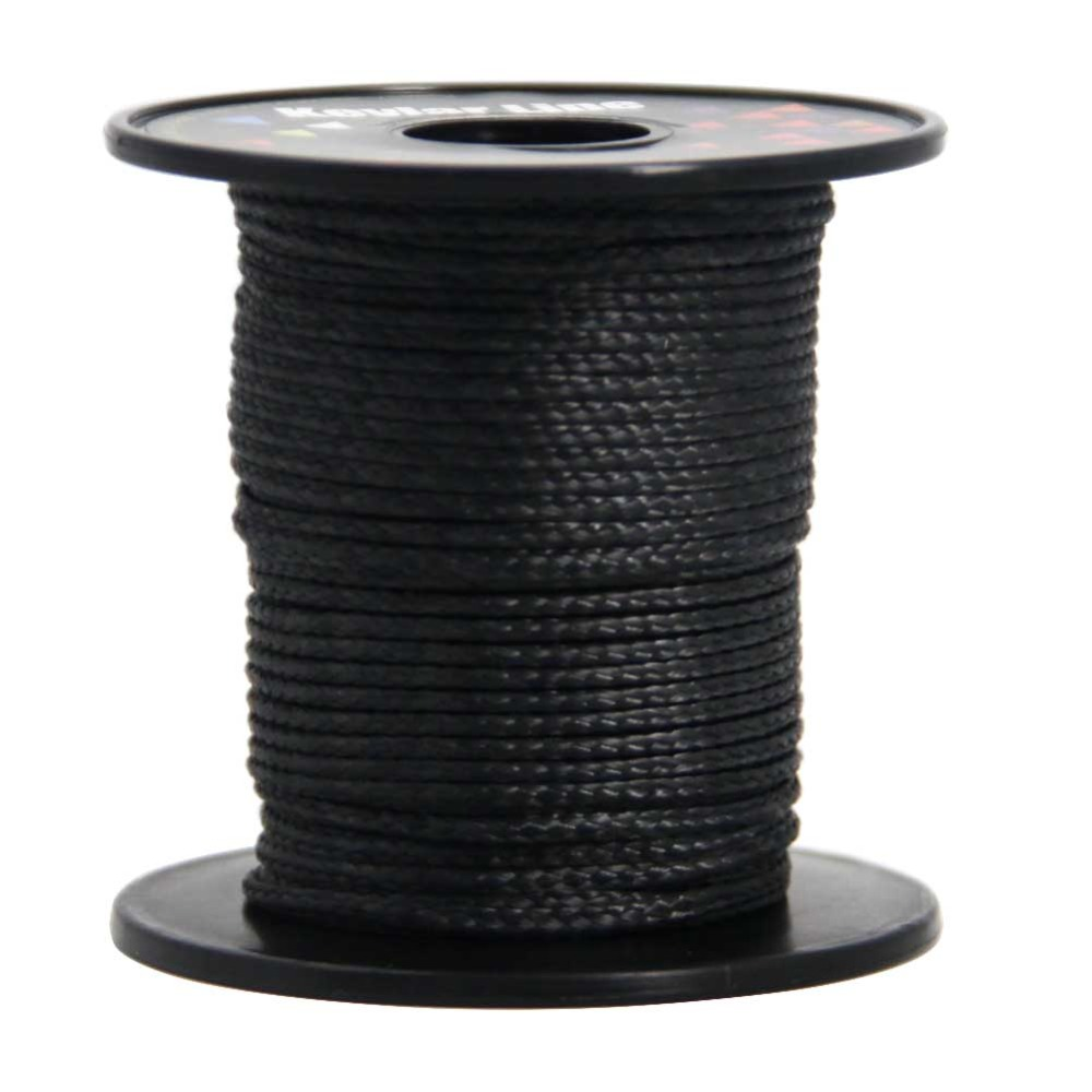 Black Kevlar Line 50ft 1200lb Braided Fishing Line Outdoor Sport Flying Kite Line String Survival Cord emmakites 500ft 152m 1500lb kevlar line for single line kite flying braided fishing line outdoor camping hiking garden cord