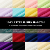 SH001 100 Silk Habotai Solid Color Silk Fabric Mulberry Silk Plain Width1 52yd Thickness 8mm 14
