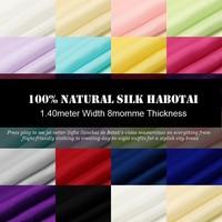 SH001 100 Silk Habotai Solid Color Silk Fabric Mulberry Silk Plain Width1 52yd Thickness 8mm 14
