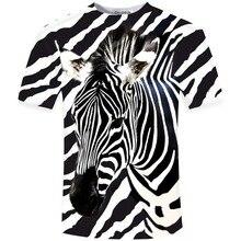 Cloudstyle 2019 3D Tshirt Men Shortsleeve Zebra Stripe 3D Print Summer Fashion Street Style Slim Fit Tees Tops Plus Size 5XL