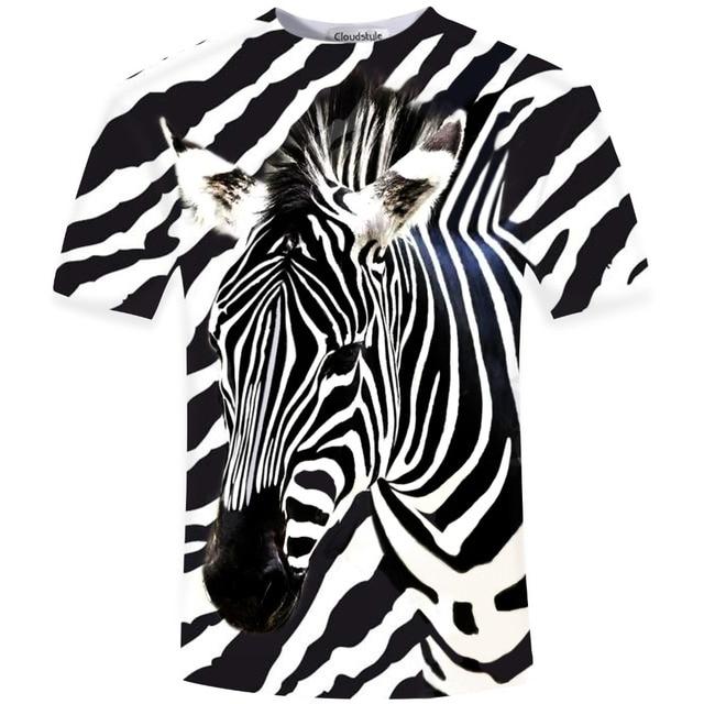 Zebra de Manga Curta O-Neck T-Shirt dos homens 3D Impresso Camiseta Homens Mais tamanho S-5XL camiseta Moda Hip Hop top Animal Print tee camisa