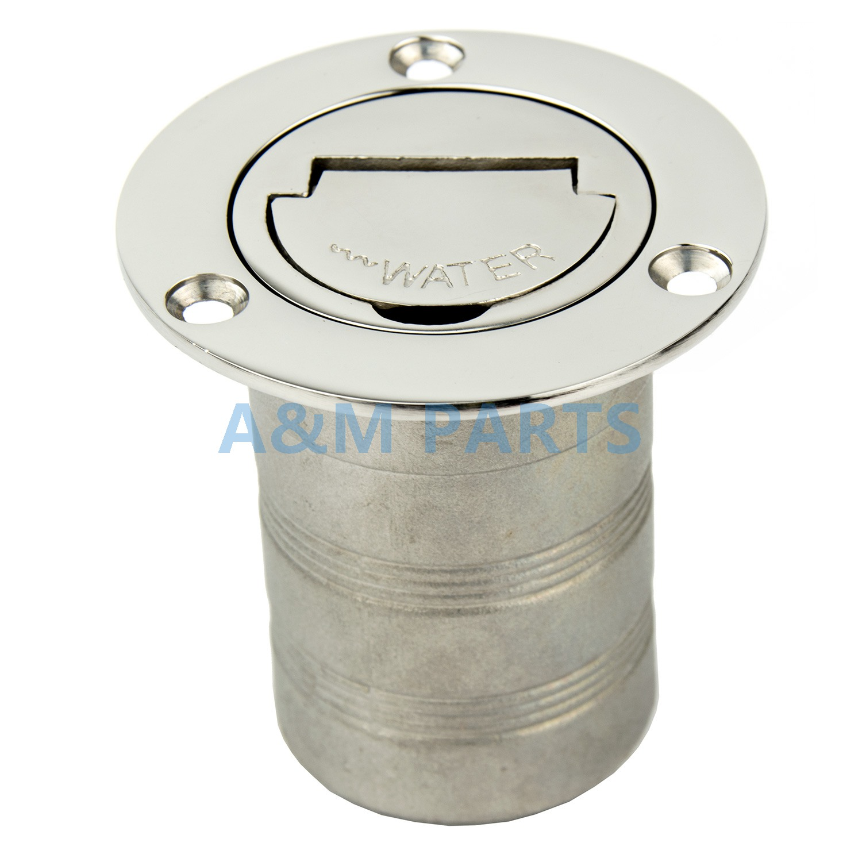 Marine Boat Keyless Water Deck Fill / Filler Stainless Steel 316 - 2 - Water