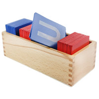Children Montessori Early Learning Wooden Toy A Z Sand Letters Card Children Toys Birthday Gift F2064Z
