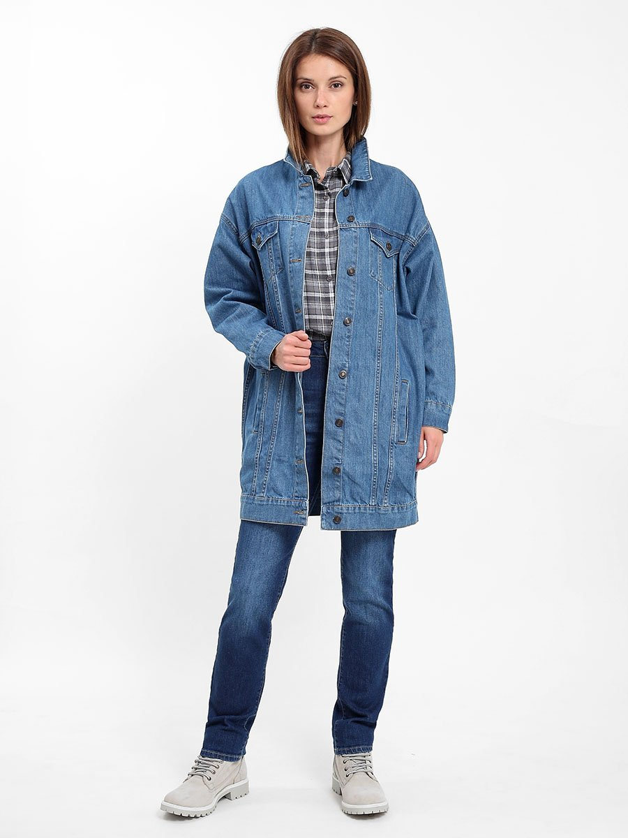 Women's jacket  Blue denim 281  285046 ripped casual denim shirt jacket