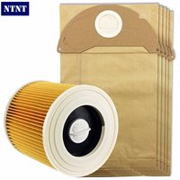 Free Post New 5 Pcs Bags Dust Bag 1 Piece Filter Kit For Karcher A2054 A2064