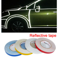 Dongzhen Car Reflective Sticker Car Stickers Strip Styling Auto Motorcycle Safety Reflective Tape Sheeting Film Decoration 1pcs